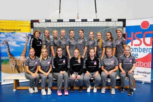 Das Team der HSG Blomberg-Lippe III - Kreismeister 2016/17